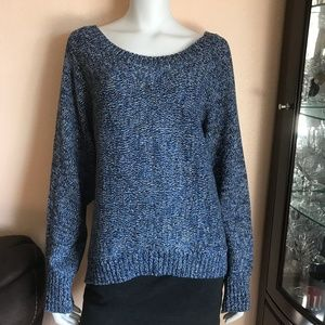 Vince Camuto Knitted Black White Blue Sweater XL